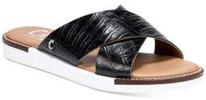 Sam Edelman Women's Lux Cross-Band Flat Sandals Women's Shoes
