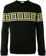Versace border print sweatshirt - men - Cotton - S