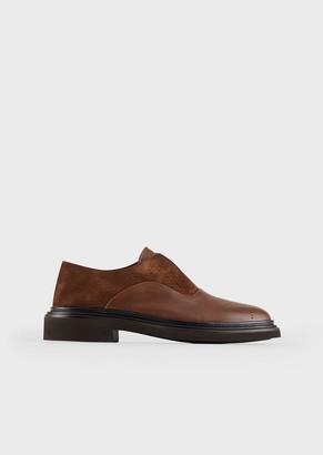 Giorgio Armani Laceless, Leather Oxfords