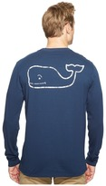 Vineyard Vines Long Sleeve Red White Blue Pocket Tee Men's T Shirt