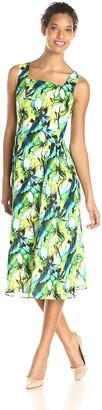 Kasper Women's Sleeveless Garden Print Dress