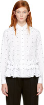 McQ by Alexander McQueen White Ruffled Swallows Shirt