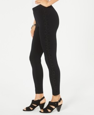 Style&Co. Style & Co Lace-Trim Pull-On Leggings, Created for Macy's