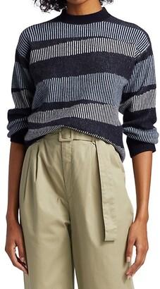 Naadam Swirl Striped Cashmere Sweater