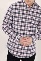 Mens Next White/Blue/Red Long Sleeve Check Shirt