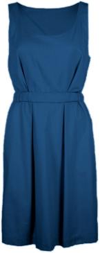 Format HEAT Dark Blue Plain Dress - S - Blue