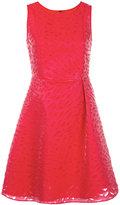 Emporio Armani shredded trim dress - women - Cotton/Polyamide/Polyester - 38