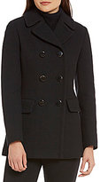 Kate Spade A-Line Double Breasted Back-Bow Wool Coat