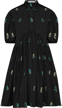 Cecilie Bahnsen Esther floral puff-sleeve shirt-dress