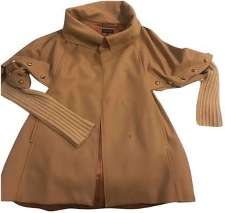 Patrizia Pepe Beige Wool Coat for Women