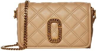 Marc Jacobs Flap Crossbody (Tan) Handbags