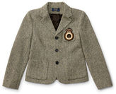 Ralph Lauren 7-16 Patch Wool Herringbone Blazer