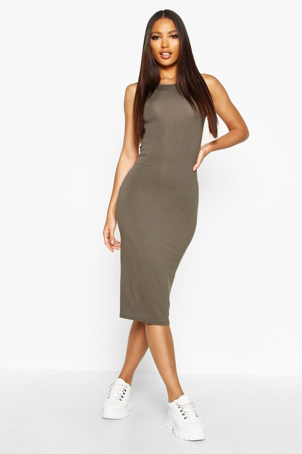 boohoo Sleeveless Midi Dress