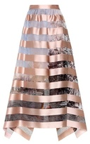 Fendi Striped silk-blend skirt