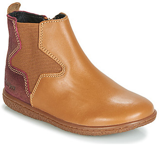 Kickers VERMILLON girls's Mid Boots in Brown