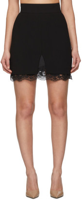 Dolce & Gabbana Black Double Woolen Cloth Miniskirt