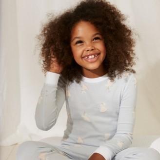 The White Company Slim-Fit Fairy Frill Pyjamas, Blue, 2-3yrs
