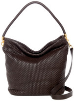 Cole Haan Benson II Woven Leather Bucket Hobo