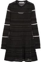 McQ by Alexander McQueen Knitted Mini Dress - Black