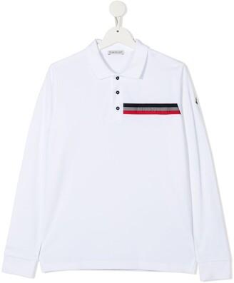 Moncler Enfant Whitels long-sleeve polo shirt