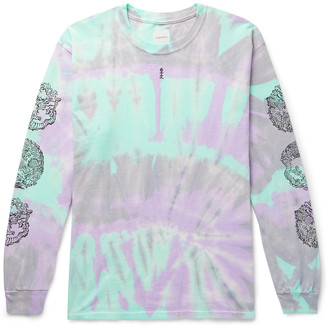 SASQUATCHfabrix. Printed Tie-Dyed Cotton-Jersey T-Shirt