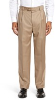 Zanella Men's Bennett Regular Fit Pleated Trousers