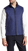 Bugatchi Quilted Vest with Stowable Hood