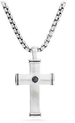 David Yurman Streamline Sterling Silver Diamond Cross Pendant
