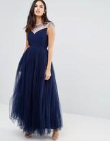 Little Mistress Beaded Maxi Dress