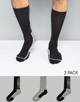 Calvin Klein Socks With Coolpass In 3 Pack