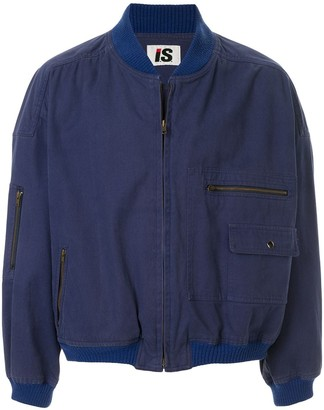Issey Miyake Pre-Owned 1980's Sports Line logo print bomber