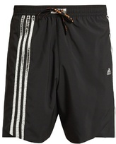 adidas Foil 3 striped running shorts