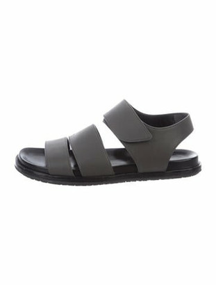 Marni Leather Ankle Strap Sandals Grey