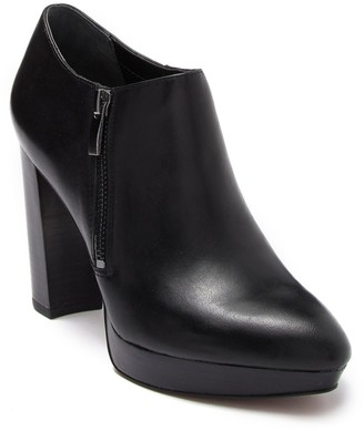 Franco Sarto Sheila Leather Platform Bootie