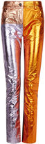 Haider Ackermann Tri-Colour Metallic Leather Trousers