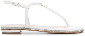 Schutz Embellished Flat Sandals