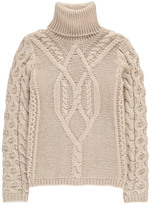 Sessun Cable Knit Mohair Glenealo Oversized Polo Neck Pullover