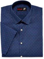 Jf J.Ferrar Stretch Short Sleeve Broadcloth Pattern Dress Shirt - Slim
