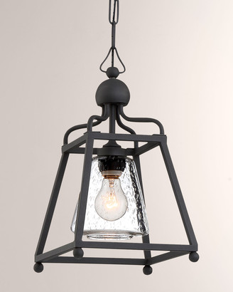 Crystorama Libby Langdon Sylvan 1-Light Black Forged Outdoor Pendant