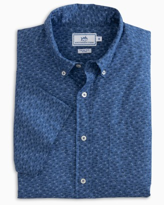 Southern Tide Waterway Short Sleeve Button Down Shirt
