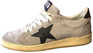 Golden Goose Ball Star Grey Suede Trainers