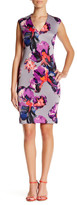 Donna Ricco V-Neck Floral Sheath Dress (Petite)