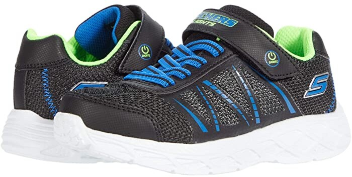 ,Black//Lime,1.5 M US Little Kid Little Kid//Big Kid Skechers Kids Boys Skech Air Turbo Shock Sneaker