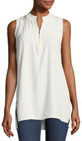 Lafayette 148 New York Foley Matte Silk Sleeveless Blouse