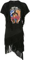 Balmain embellished fringed dress