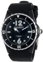 Haurex Italy Women's PN379DNS Beauty Black Dial Rotating Bezel Crystal Watch