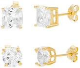 Bliss Gold Stud Earrings Set With Swarovski® Crystals