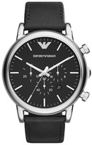Emporio Armani Chronograph Leather Strap Watch, 46mm
