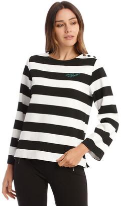 Karl Lagerfeld Paris Stripe Knit Top