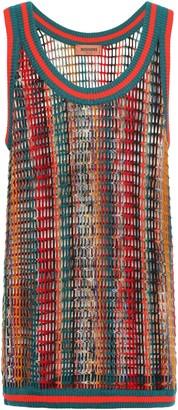 Missoni Open-knit Wool-blend Tank